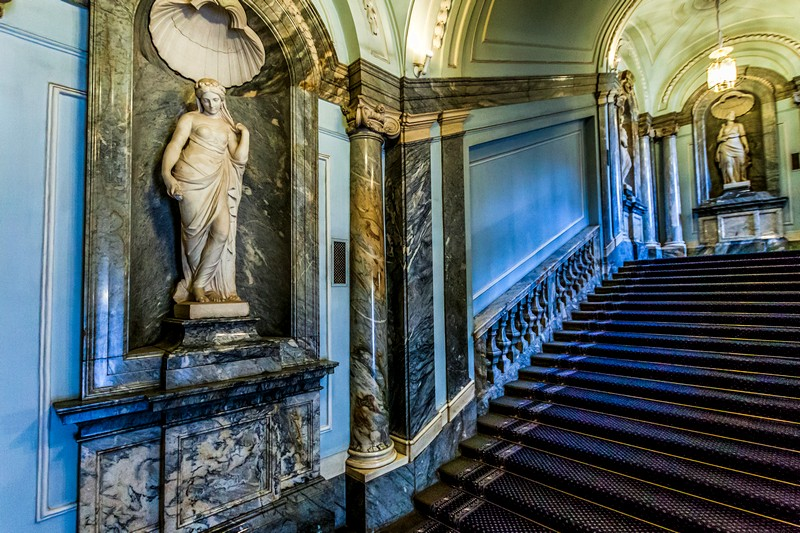 The main staircase of the Marble Palace in St Petersburg, Russia