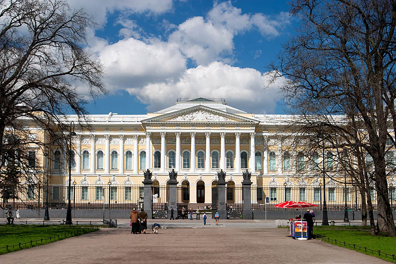 Mikhailovsky Palace, main building of the State Russian Museum in St Petersburg, Russia