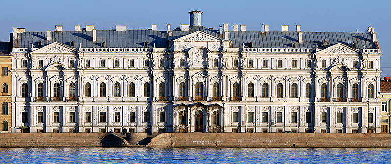 Novo-Mikhailovskiy Palace on Palace Embankment in St Petersburg, Russia