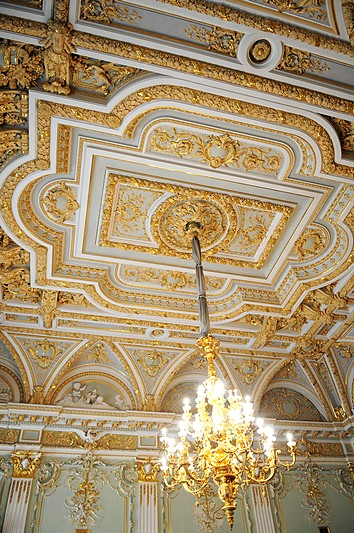 Ceiling in the Derviz Mansion in Saint-Petersburg, Russia