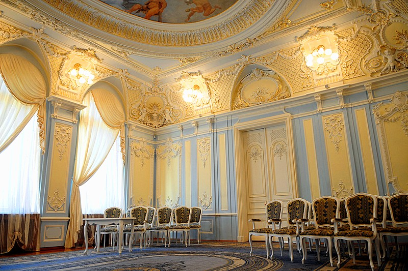Inside the Derviz Mansion in St Petersburg, Russia