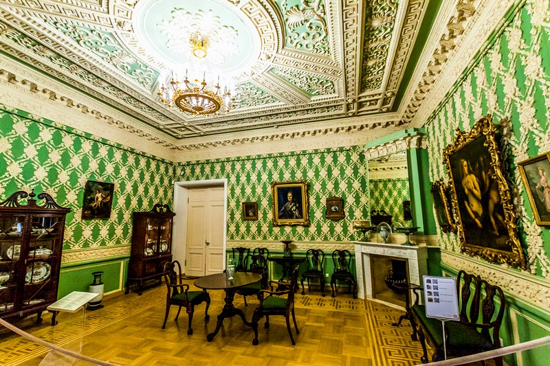 State rooms of the Sheremetev Palace in St Petersburg, Russia