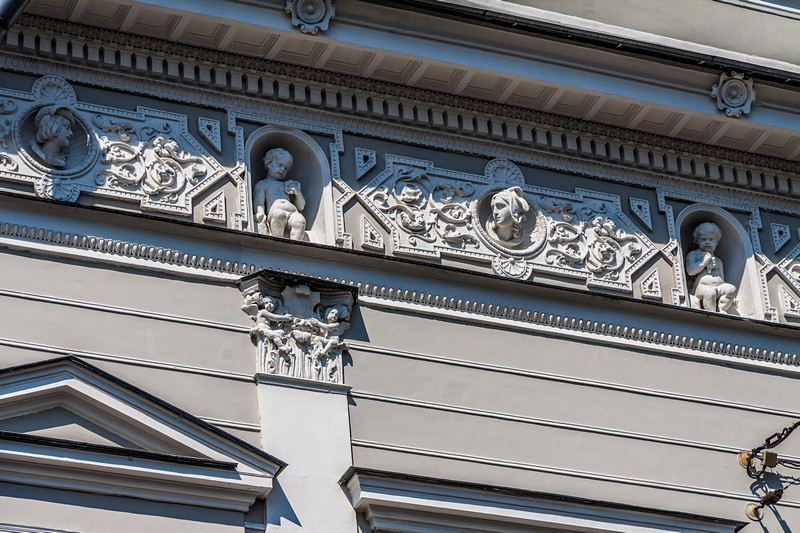 Decorationations on the Shuvalov Palace in St Petersburg, Russia