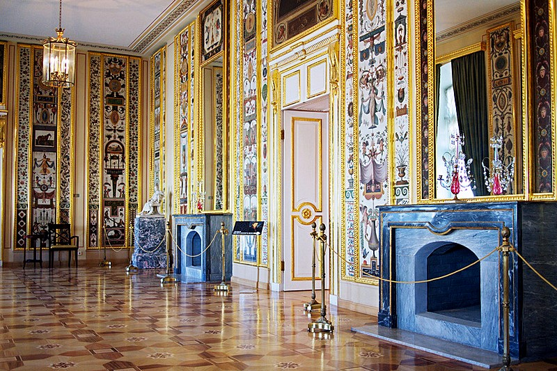 Interiors of the Stroganov Palace in St Petersburg, Russia