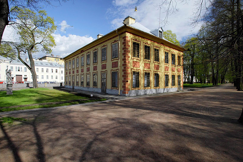 Summer Palace of Peter the Great in the Summer Garden in St Petersburg, Russia