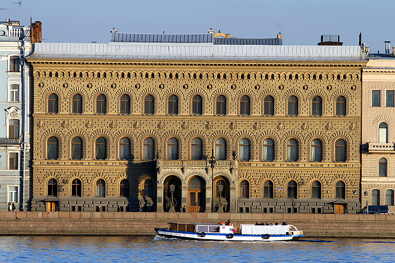 Palace of Grand Duke Vladimir Alexandrovich (House of Scientists) on Palace Embankment in Saint Petersburg, Russia