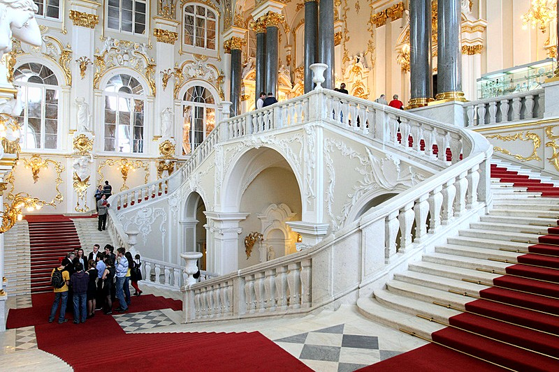 Ambassador's (Jordan) Staircase at the Winter Palace / Hermitage Museum in St Petersburg, Russia