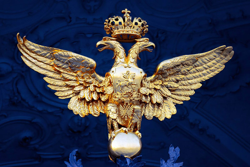 Imperial eagle on the gate of the Winter Palace / Hermitage Museum in St Petersburg, Russia