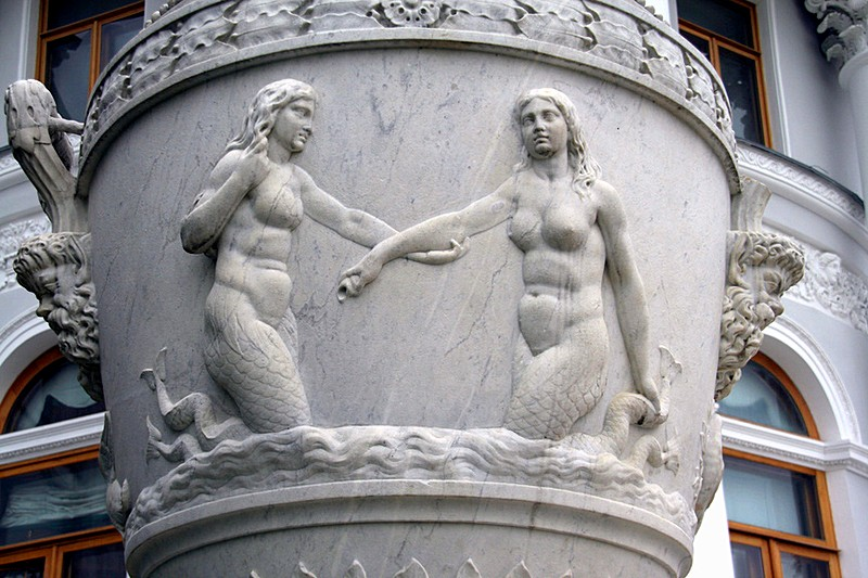 Detail of a vase at Yelagin Palace in Saint-Petersburg, Russia