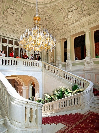 Main staircase of the Yusupov Palace in Saint-Petersburg, Russia