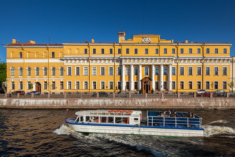 Yusupov Palace on the the Moyka River Embankment in St Petersburg, Russia