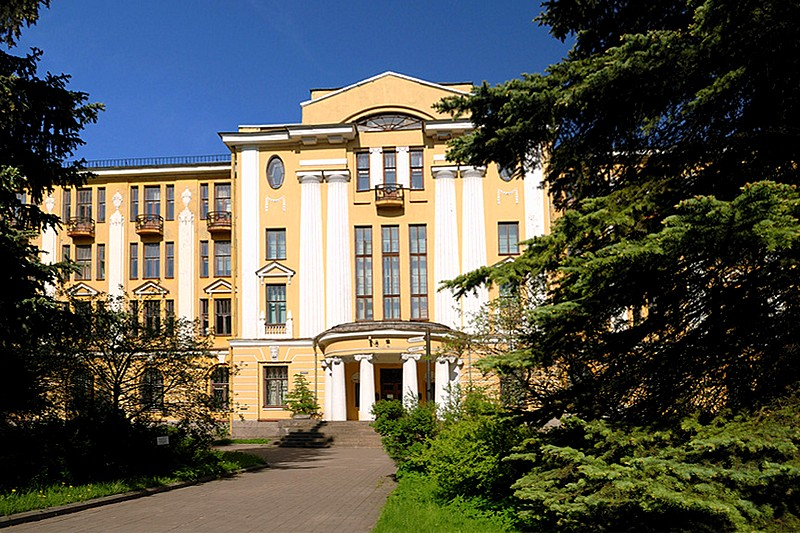 Main building of the Botanical Garden in St Petersburg, Russia, where the Botanical Museum is located