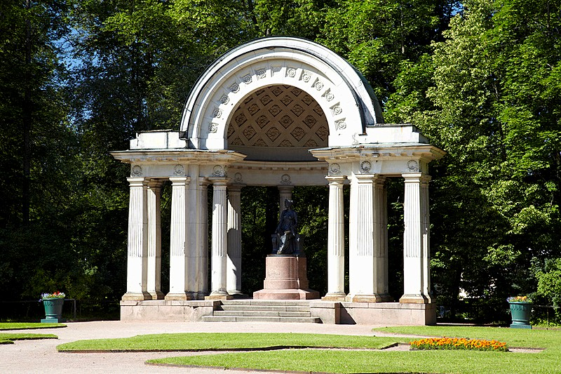 Rossi Pavilion in Pavlovsk Park in Pavlovsk royal estate, south of St Petersburg, Russia