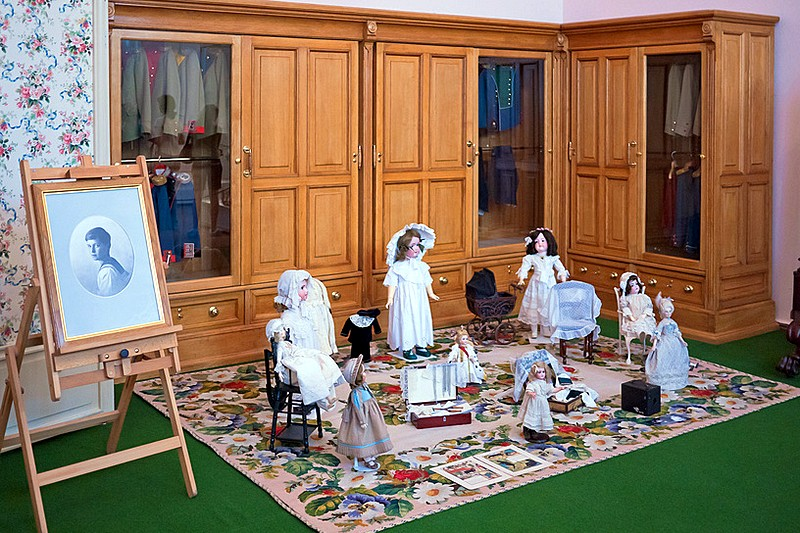 Museum exhibits at Alexander Palace in Tsarskoye Selo (Pushkin), south of St Petersburg, Russia
