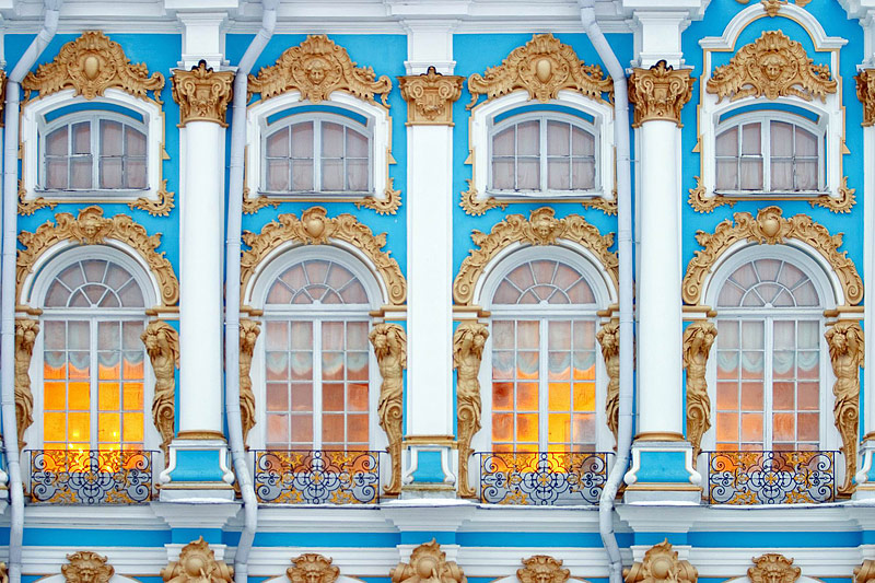 The wonders of world achitecture catherine palace for Facade decoration