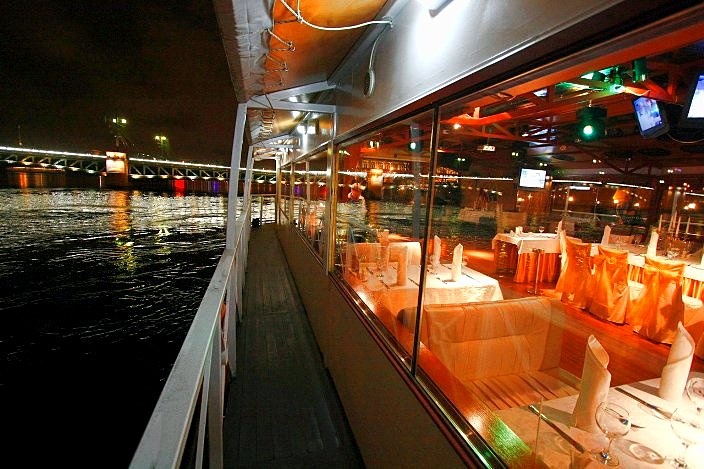 City Blues Jazz Riverboat's night cruise in St Petersburg, Russia