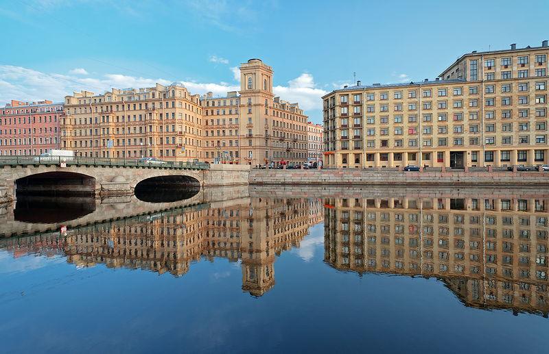 Fontanka River in St  Petersburg