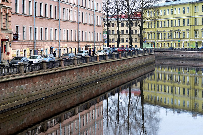 Poetic charm of the Griboedov Canal in St Petersburg, Russia