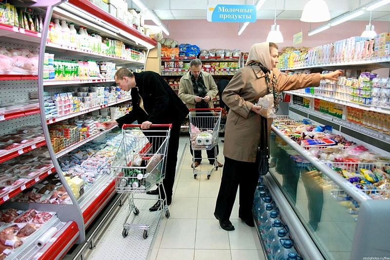 Perekrestok supermarket in St. Petersburg, Russia