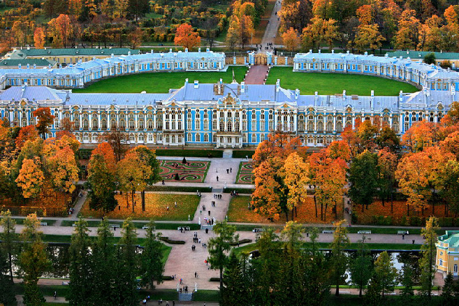 Catherine Palace in Tsarskoye Selo (Pushkin), south of St Petersburg, Russia