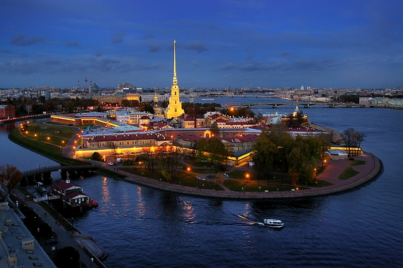 The Peter & Paul Fortress in Saint Petersburg