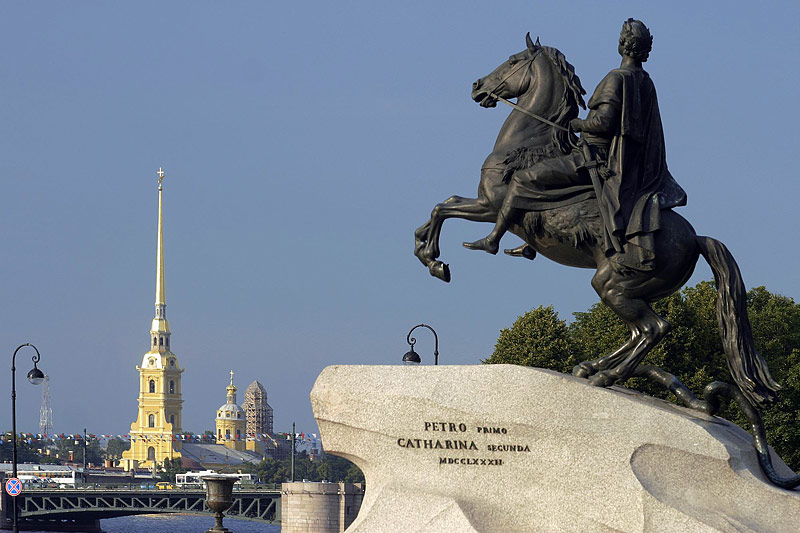 The Bronze Horseman in Saint Petersburg, Russia