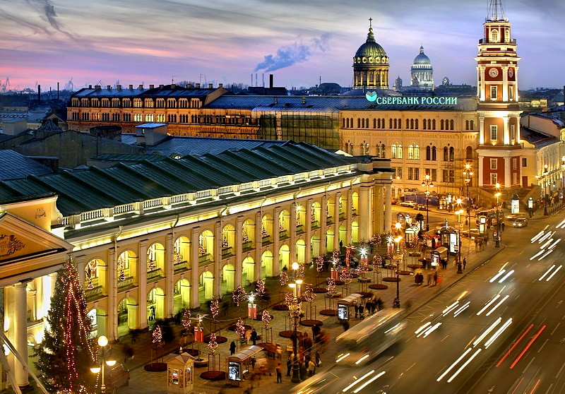 Gostiny Dvor in Saint Petersburg, Russia