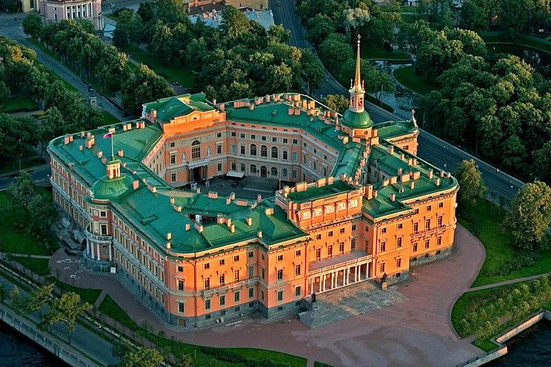 The Mikhailovsky (St Michael's) Castle in Saint Petersburg, Russia
