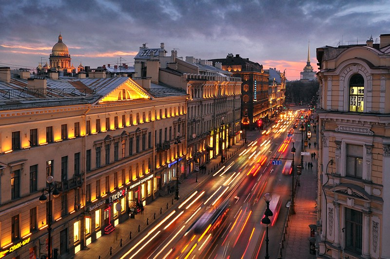 Nevsky Prospekt in Saint Petersburg, Russia