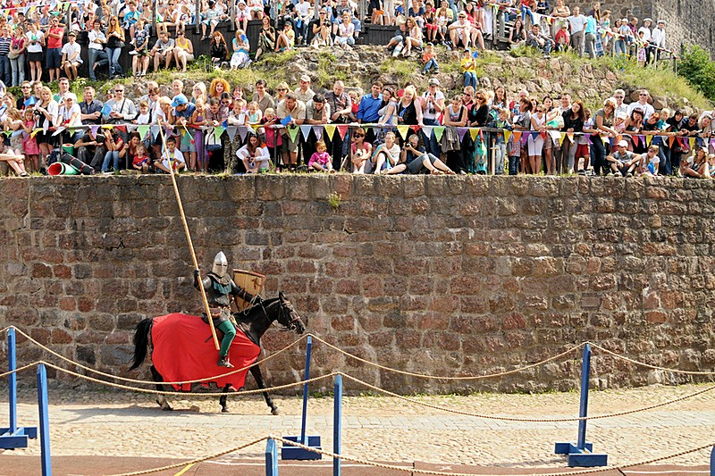Festival of medieval knights and chivalry at Vyborg Castle, northwest of St Petersburg, Russia