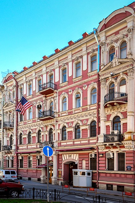 American Consulate on Furshtatskaya Ulitsa in St Petersburg, Russia