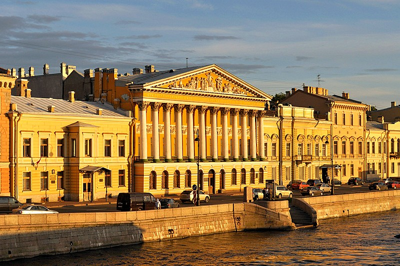 Rumyantsev Mansion on the English Embankment in St Petersburg, Russia, once occupied by the US Embassy
