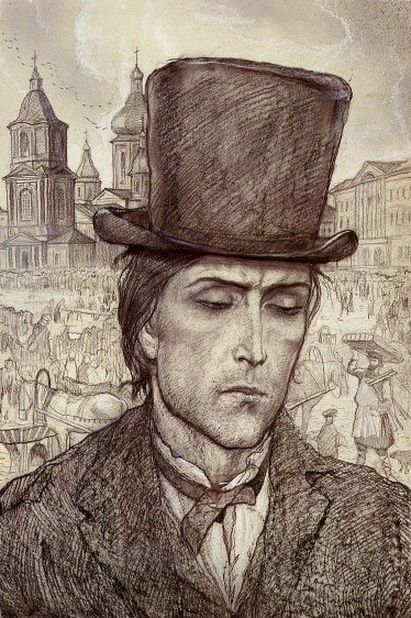 Raskolnikov. Illustration to Dostoevsky's novel Crime and Punishment
