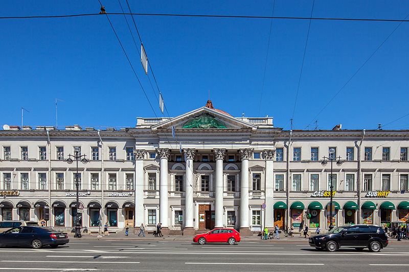 Former building of the Dutch Church, designed by Paul Jacot in St Petersburg, Russia