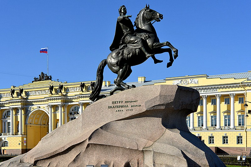The Bronze Horseman by Maurice Etienne Falconet in Saint Petersburg, Russia