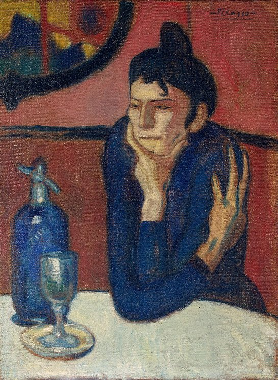 Absinthe Drinker by Pablo Picasso at the Hermitage in St. Petersburg, Russia