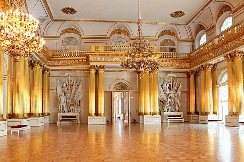 Armorial Hall at the Winter Palace in St. Petersburg, Russia