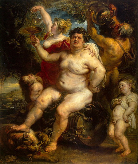 Bacchus by Peter Paul Rubens at the Hermitage in St. Petersburg, Russia