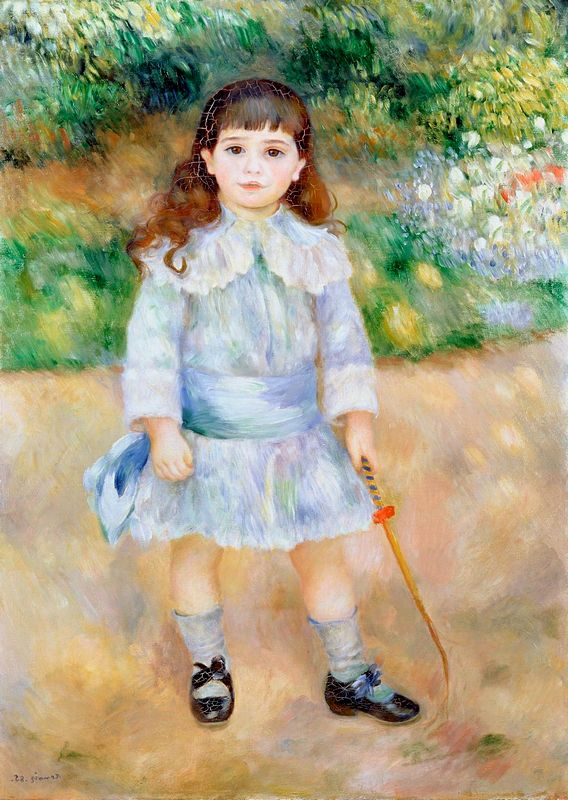 Child with Whip by Pierre-Auguste Renoir at the Hermitage in St. Petersburg, Russia