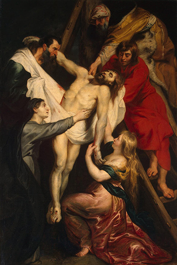 Descent from the Cross by Peter Paul Rubens at the Hermitage in St. Petersburg, Russia