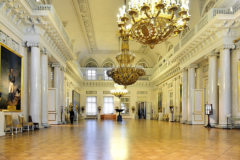 Field Marshall Room at the Winter Palace in St. Petersburg, Russia