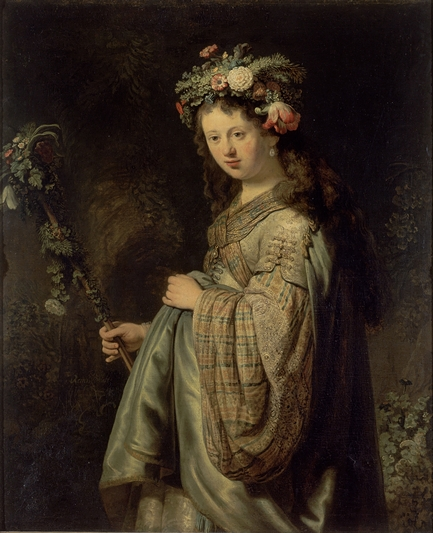 Flora by Rembrandt van Rijn at the Hermitage in St. Petersburg, Russia