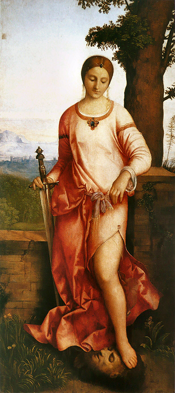 Judith with the Head of Holofernes by Giorgione at the Hermitage in St. Petersburg, Russia