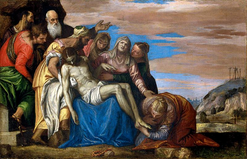 Lamentation by Paolo Veronese at the Hermitage in St. Petersburg, Russia