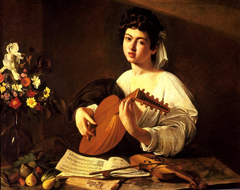 Lute Player by Caravaggio at the Hermitage in St. Petersburg, Russia