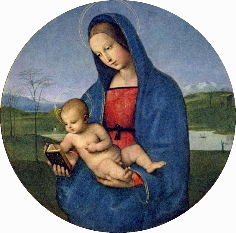Madonna and Child (The Conestabile Madonna) by Raphael at the Hermitage in St. Petersburg, Russia