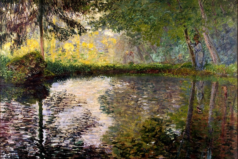 Pond at Montgeron by Claude Monet at the Hermitage in St. Petersburg, Russia