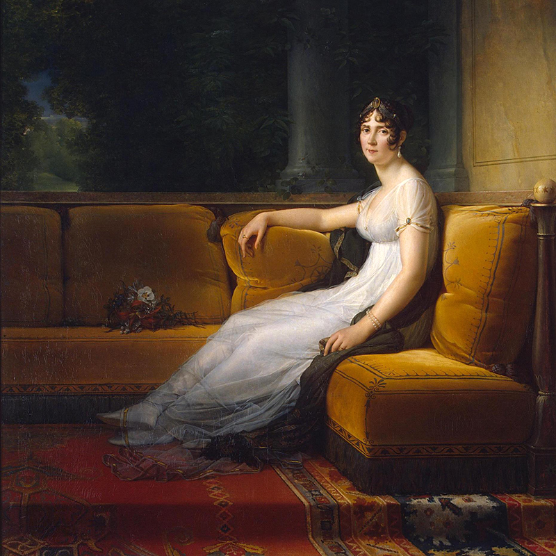 Portrait of Napoleon's wife Josephine by Francois Gerard at the Hermitage in St. Petersburg, Russia