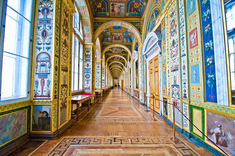 Raphael Loggia at the Hermitage in St. Petersburg, Russia