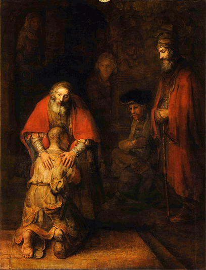 Return of the Prodigal Son by Rembrandt van Rijn at the Hermitage in St. Petersburg, Russia